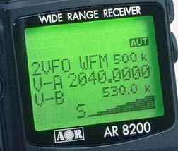 AR8200 Mark 3 ontvanger van AOR tot 3 GHz  ANALOGE ONTVANGER