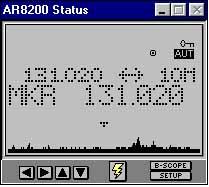 AR8200 Mark 3 ontvanger van AOR tot 3 GHz  ANALOGE ONTVANGER MET S